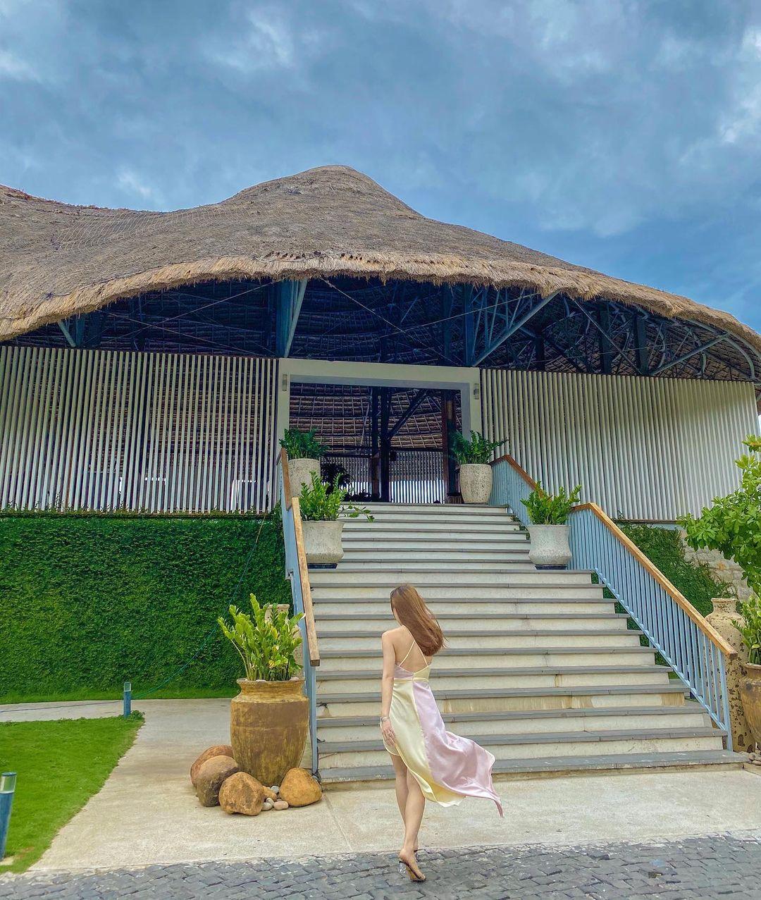 Thatched bungalow at Casa Marina resort Quy Nhon, Vietnam
