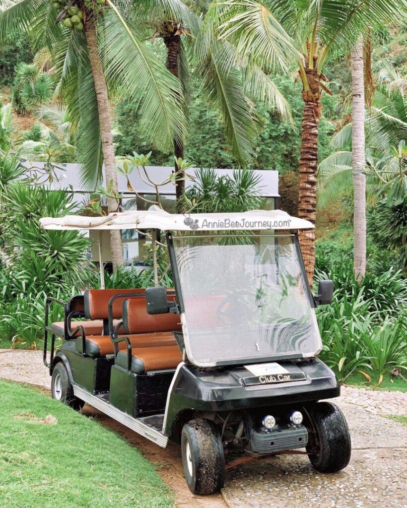 Electric car at Casa Marina resort Quy Nhon, Vietnam