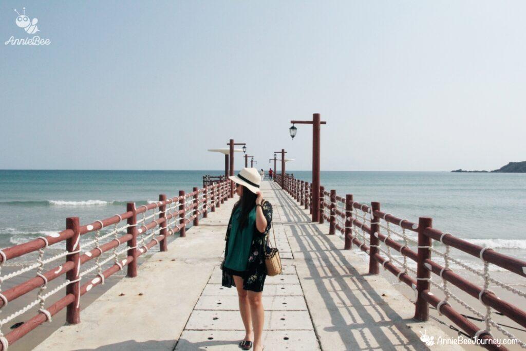 Beach bridge at FLC resort in Quy Nhon, Vietnam