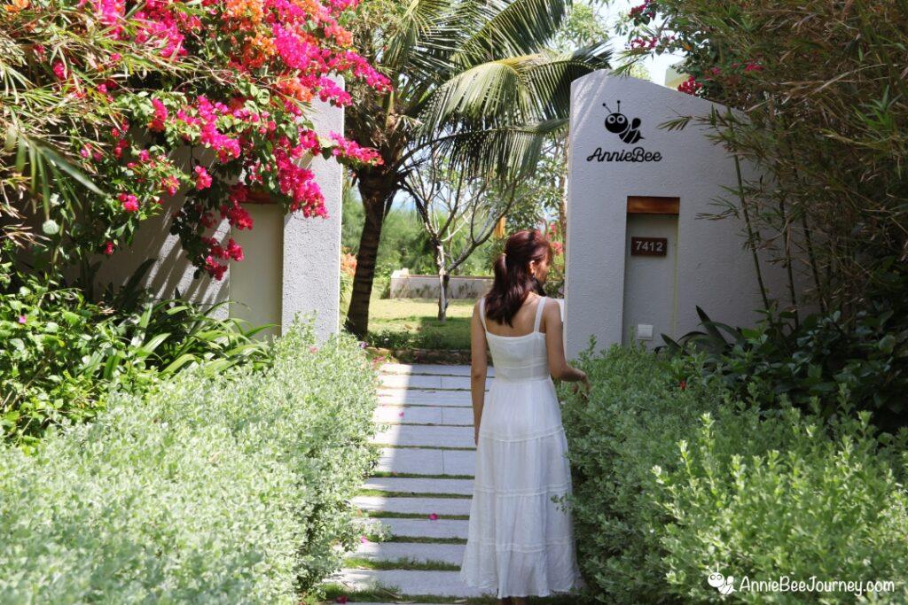 Entrance of our villa at FLC resort in Quy Nhon, Vietnam