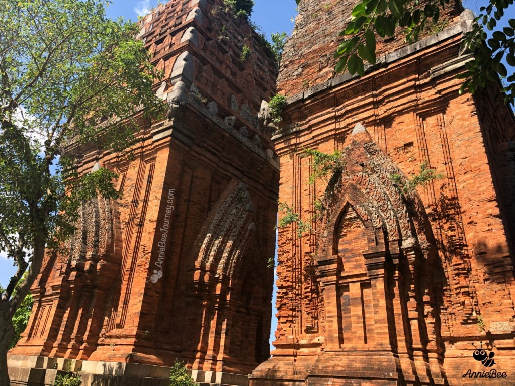 twin Champa towers in Quy Nhon, Vietnam