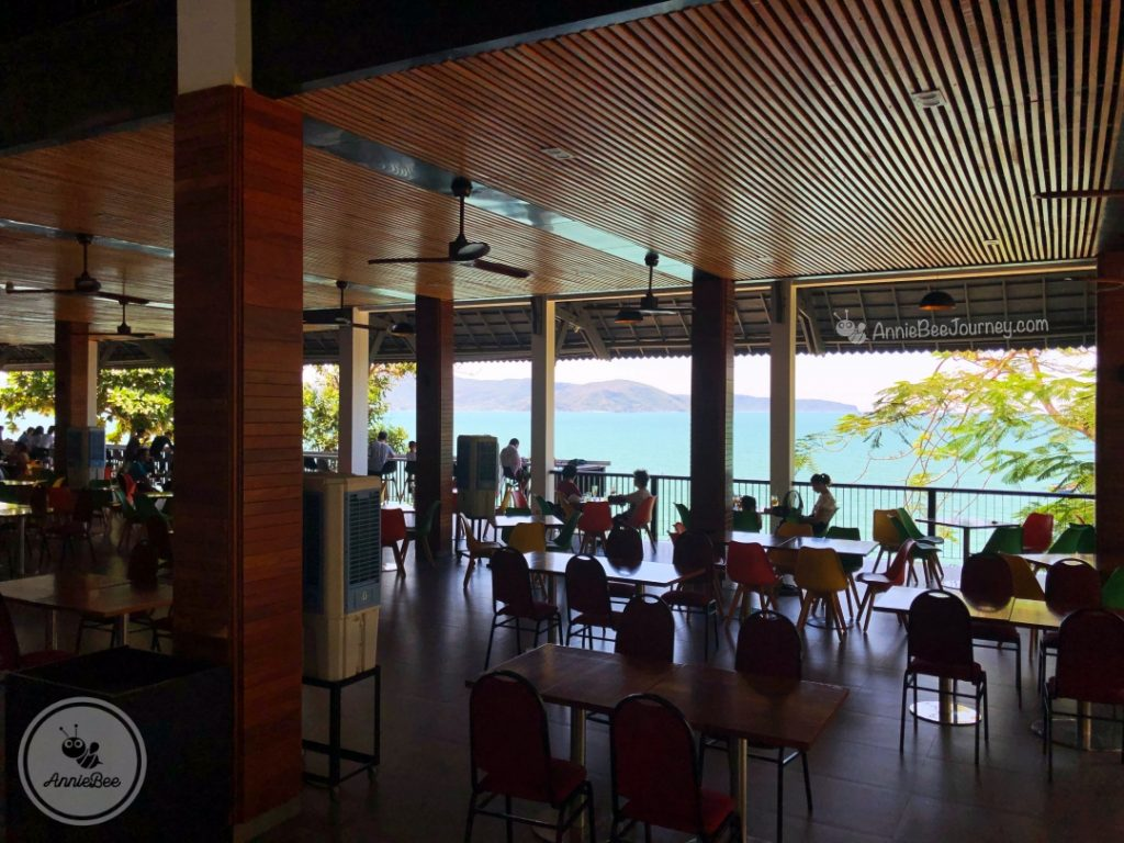 sea view restaurant at Hoang Hau beach or Egg Beach in Ghenh Rang, Quy Nhon, Vietnam
