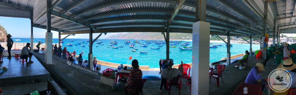 At Nhon Ly port to go canoe to Ky Co island in Quy Nhon, Vietnam