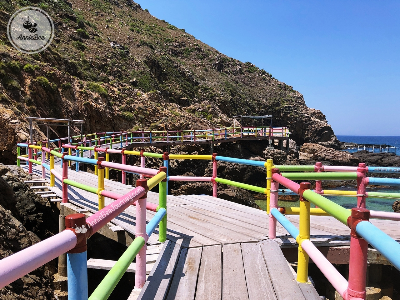 Colorful mountain path at Ky Co island in Quy Nhon, Vietnam