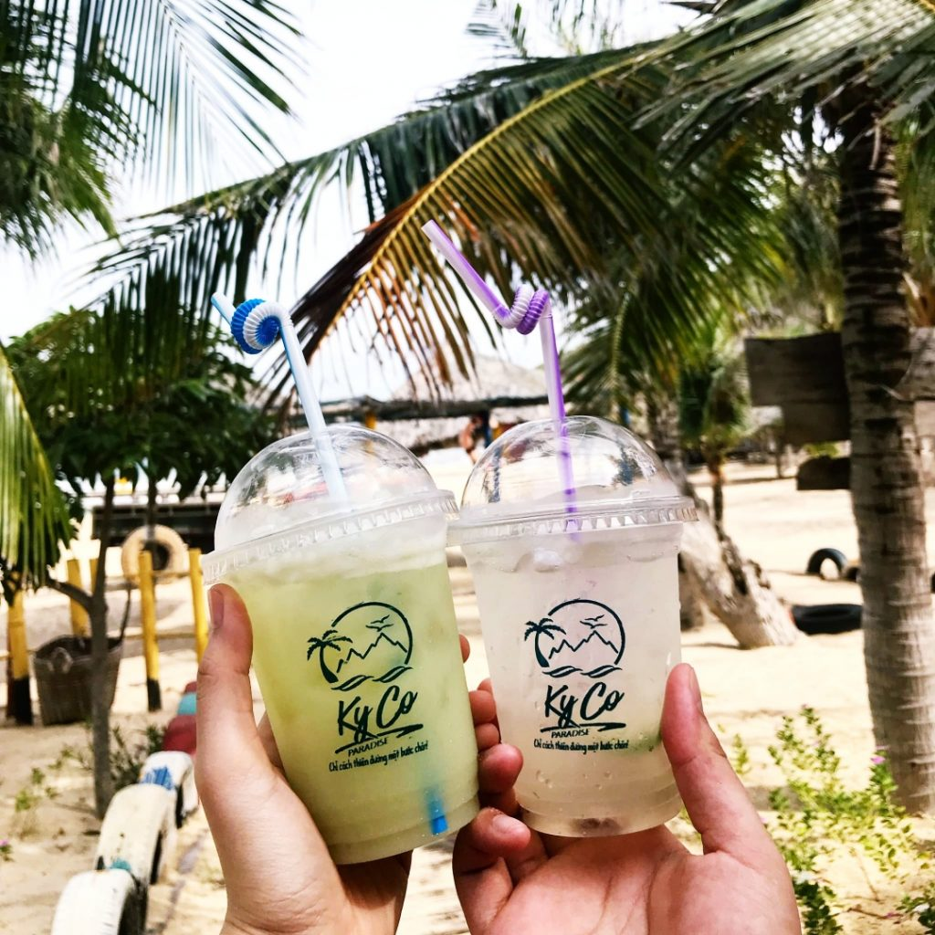 Fruit juices at Ky Co island in Quy Nhon, Vietnam