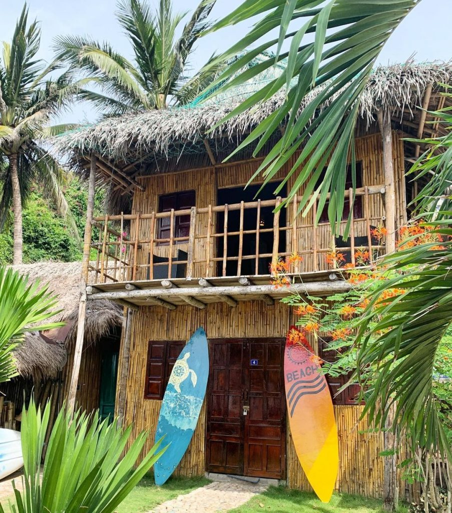 Bungalow with sup at Life's A Beach homestay in Quy Nhon, Vietnam