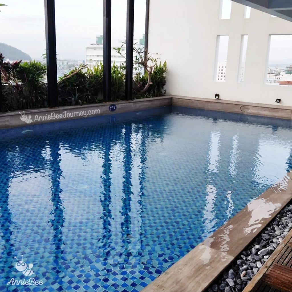 Swimming pool at Mento hotel in Quy Nhon, Vietnam