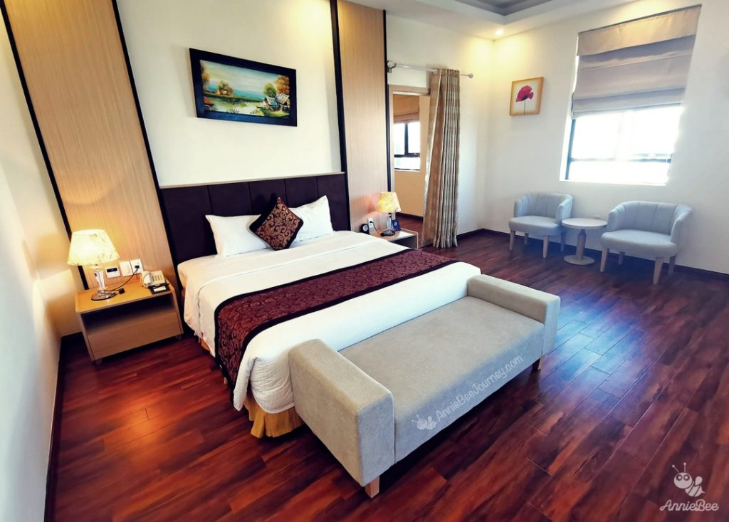 Room decoration at Muong Thanh hotel in Quy Nhon, Vietnam