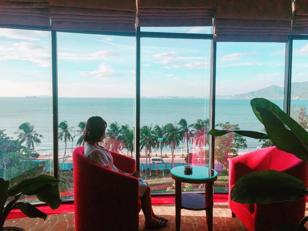 Sea view from Muong Thanh hotel in Quy Nhon, Vietnam