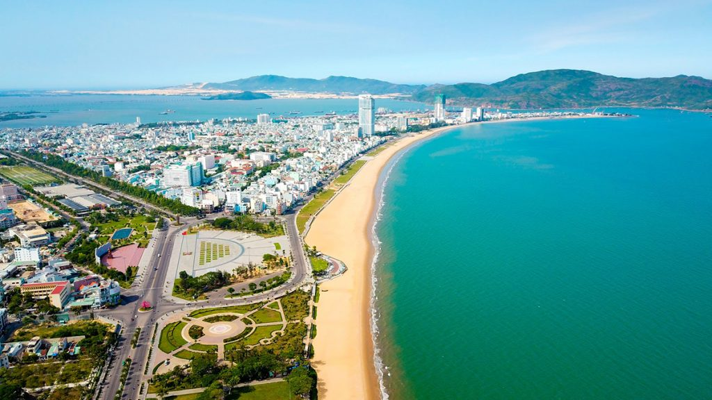 Beach in Quy Nhon city, Vietnam