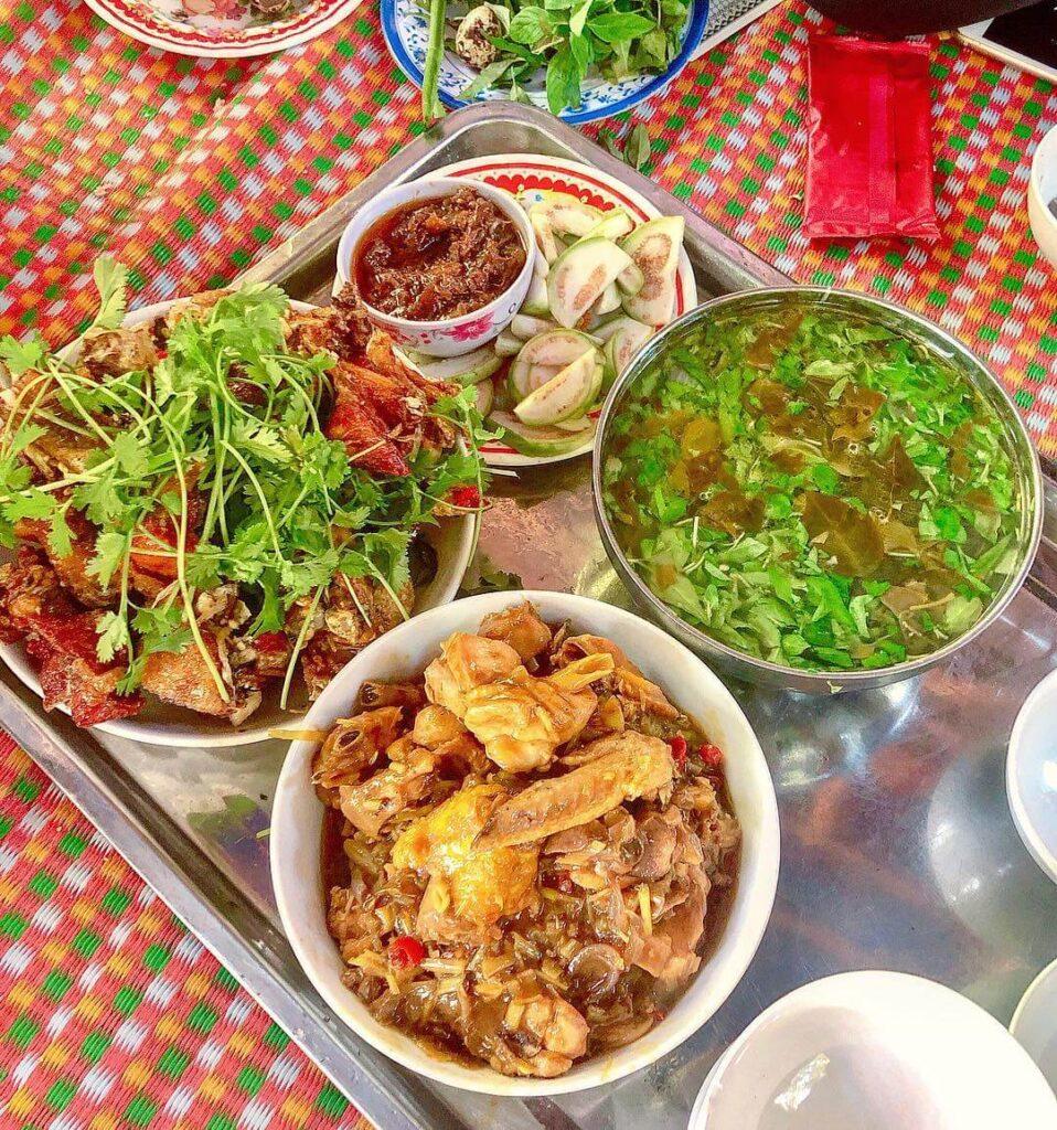 Chicken dishes in Quy Nhon, Vietnam