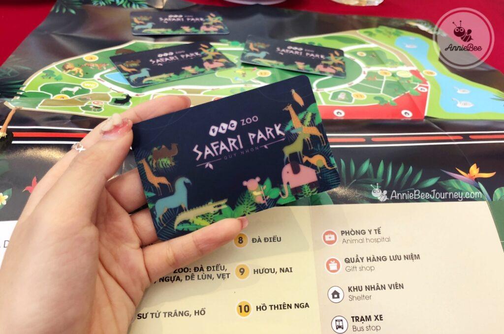Entrance card of FLC Zoo Safari in Quy Nhon, Vietnam