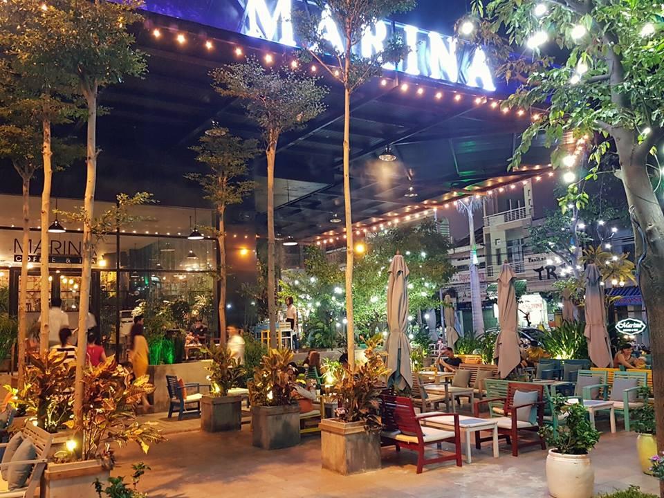 Marina Garden Coffee shop in Quy Nhon, Vietnam