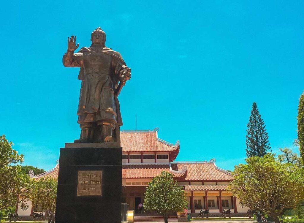 Quang Trung statue at Quang Trung museum in Quy Nhon, Vietnam