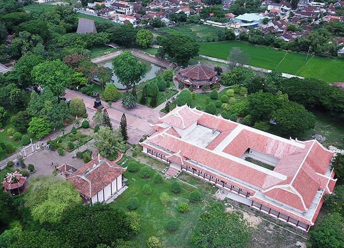 Top view of Quang Trung museum in Quy Nhon, Vietnam