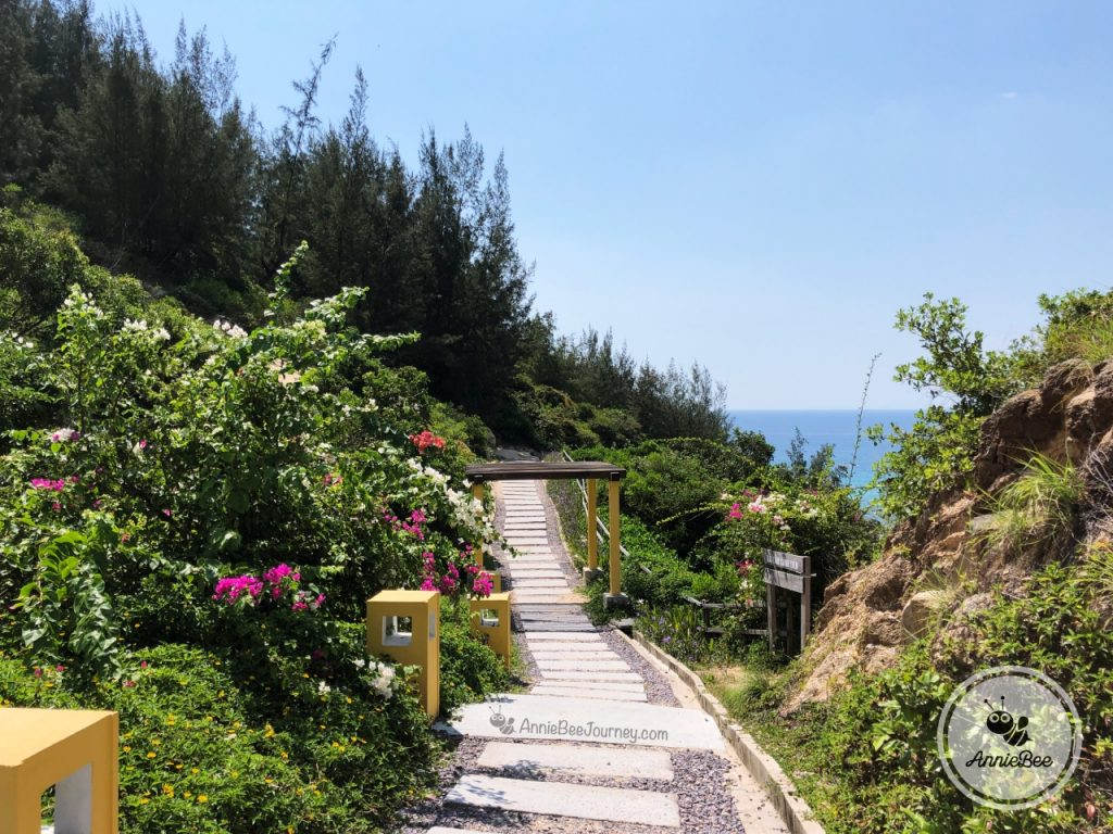 A beautiful road at Trung Luong camping site in Quy Nhon, Vietnam